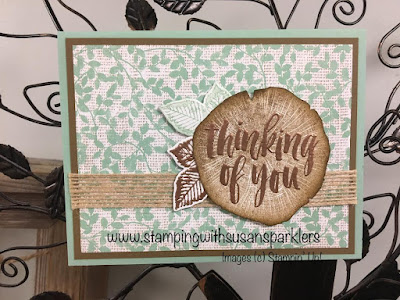 Stampin' Up!, Rooted in Nature, Nature's Poem, Embossing, Burlap Ribbon
