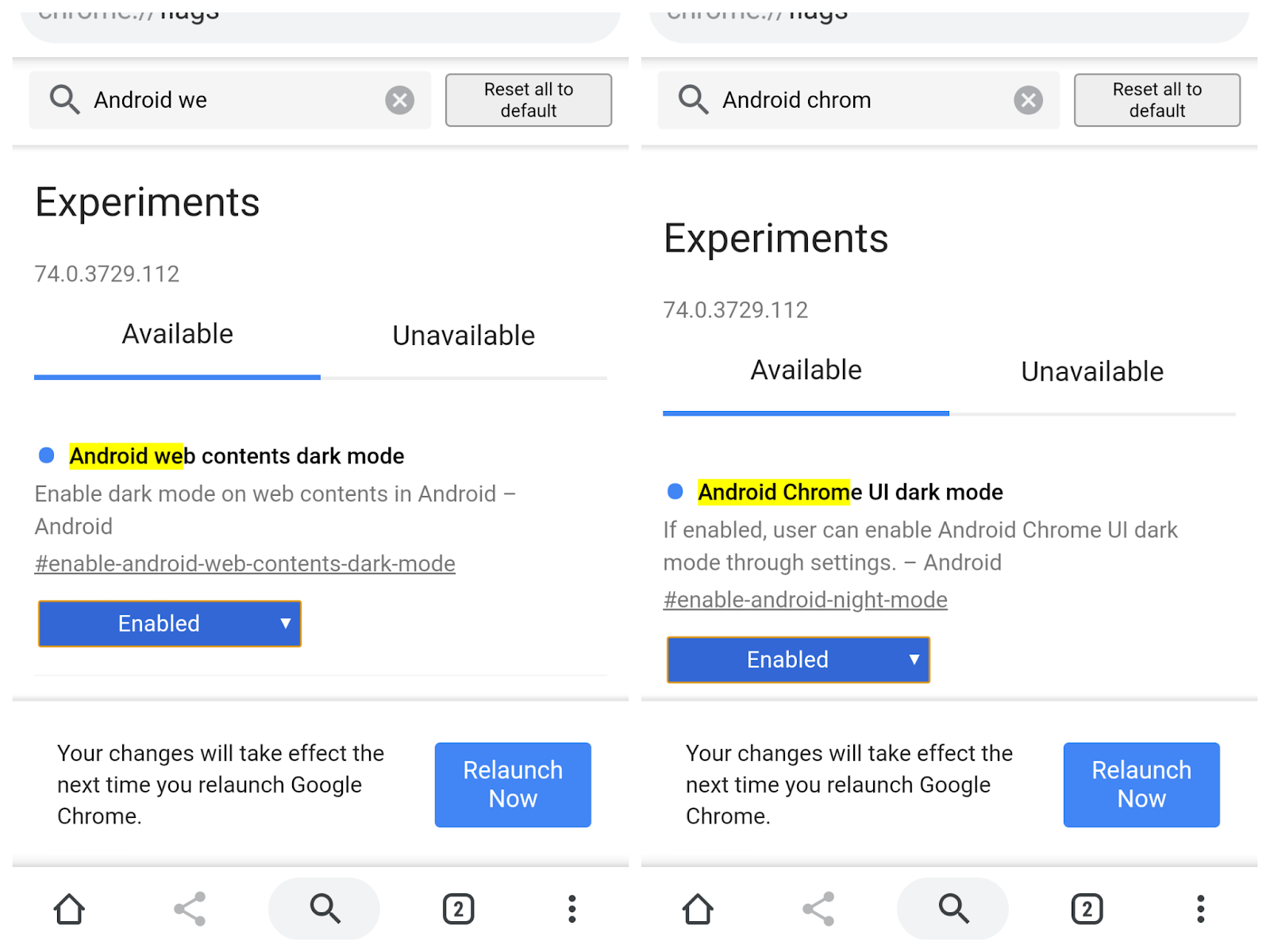 How to enable Secret Dark Mode in Google Chrome (Android)