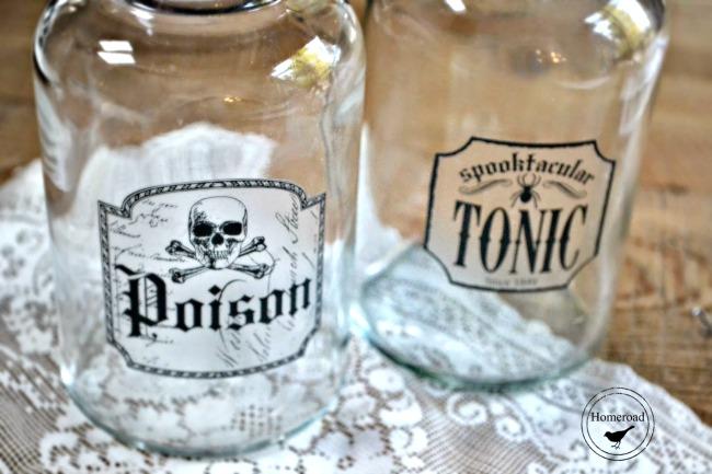 DIY Halloween Elixir Bottles for Halloween