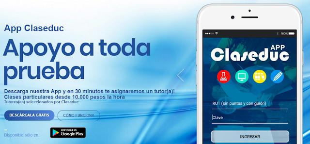 Imagen de Aplicación Móvil para pedir Clases Particulares