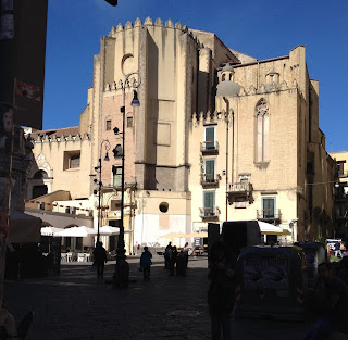 The church of San Domenico Maggiore can be found in the square of the same name, just off Spaccanapoli in Naples