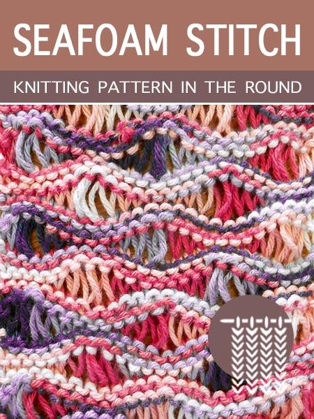 Hand Knitting Patterns - Seafoam in the round.
