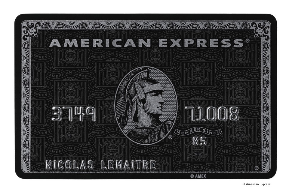 Carte American Express Centurion.The Geek The Hedonist The Absurdist The Would Be