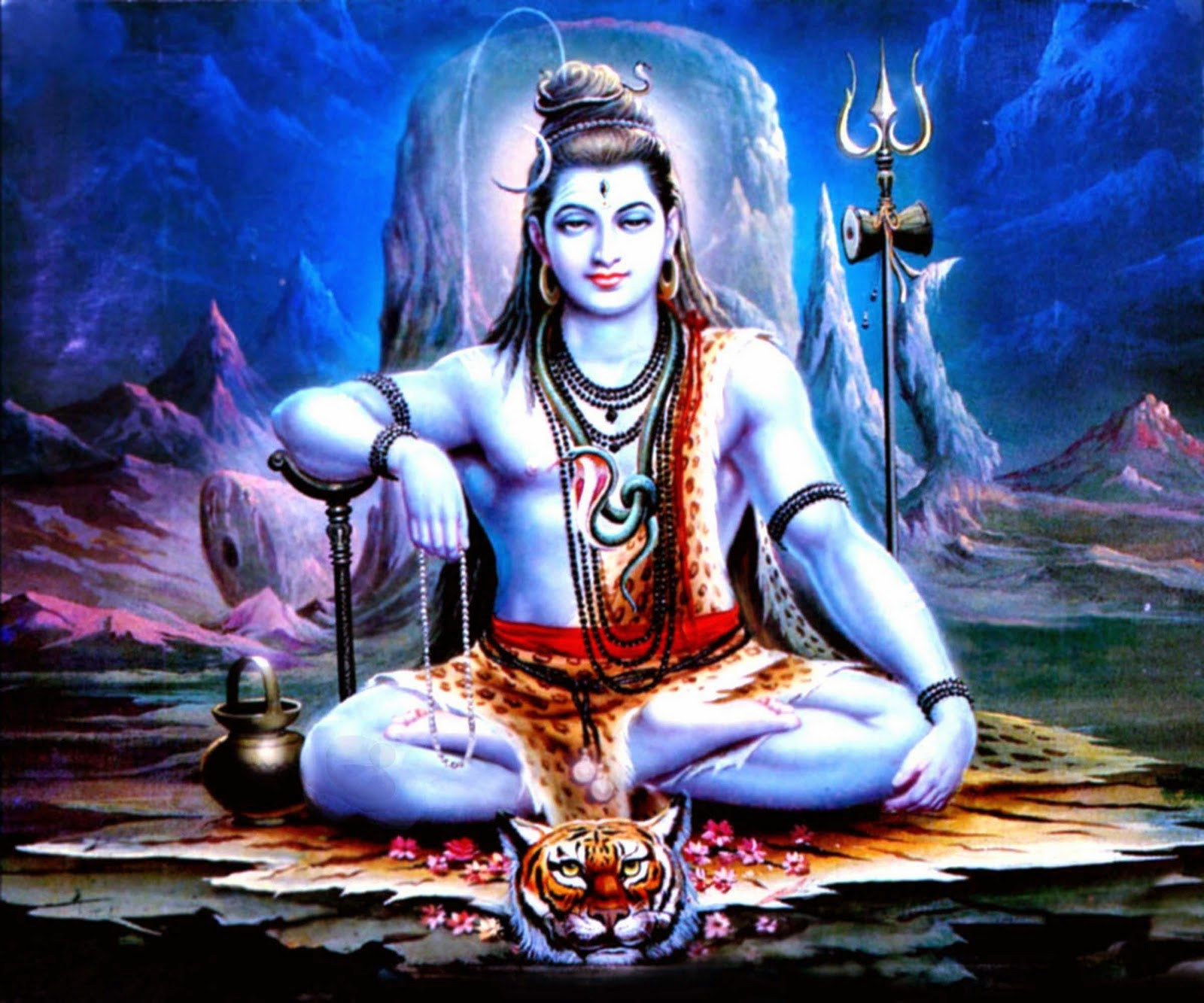 Lord Shiva With Lion Wallpaper