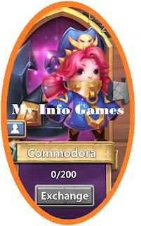 juga mempunyai Keahlian atau Skill yang luar biasa Commodora - Pahlawan Legenda Baru (Hero Legends) - Castle Clash