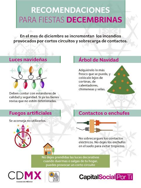 recomendaciones de seguridad en  navidad y año nuevo