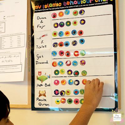 Muslim Islamic behaviour chart homeschool