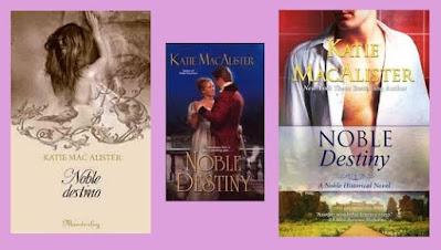 Portadas de la novela romántica histórica Noble destino, de Katie McAllister
