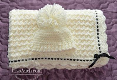 free crochet pattern,baby blanket, crochet hat