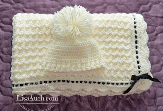 Crochet Baby Blanket Crochet Baby Hat Pattern (Crochet Hat and Blanket Pattern FREE)