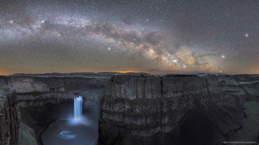 9. Palouse Falls, Washington - The World at Night with Clear Skies and No Light Pollution