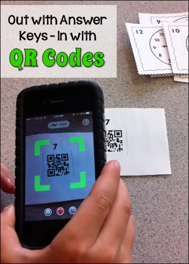 Out with Answer Keys - In with QR Codes!