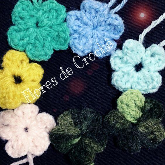 Como fazer flores de croche simples passo a passo