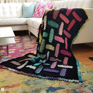 Warp and Weft Blanket -- free crochet pattern by Felted Button