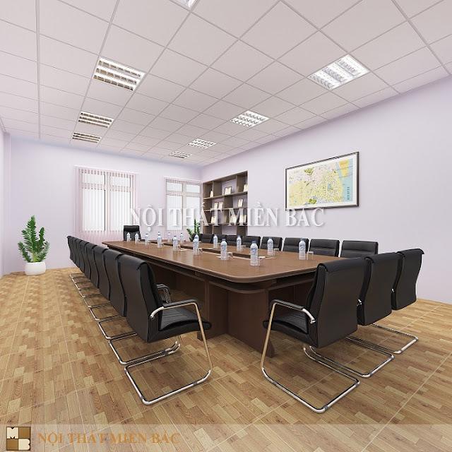 Thiết kế bàn veneer phòng họp thanh lịch, sang trọng