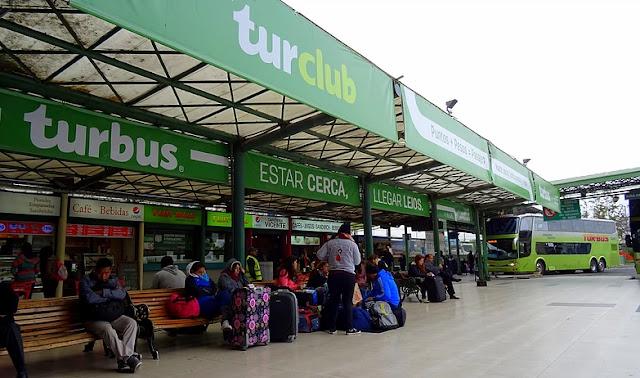 Terminal de ônibus Tur Bus em Santiago do Chile