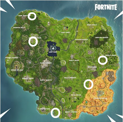 Carnival Clown Board, Locations Map, Fortnite