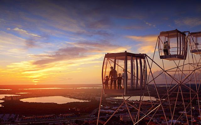 Qual o melhor horário para subir na Orlando Eye?