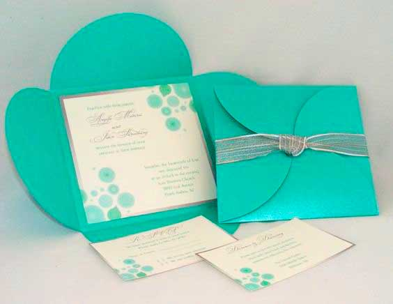 Convite debutante azul tiffany