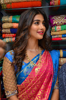 Puja Hegde looks stunning in Red saree at launch of Anutex shopping mall ~ Celebrities Galleries 067.JPG