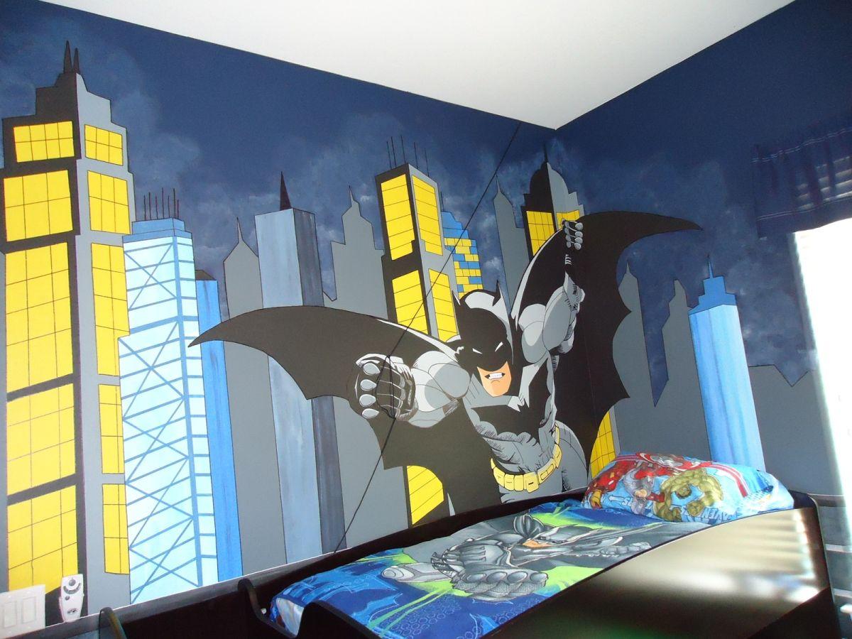 ideias para decorar o quarto de menino-quarto criativo do batman-batman-bedroom-decor-decoração-quarto-batman-quarto-infantil-cama-infantil-quarto-de-super-heroi-quarto-de-menino