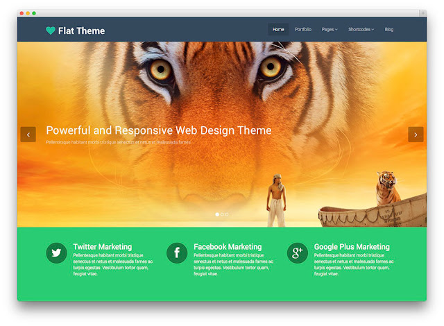 Flat wordpress theme