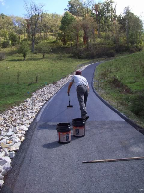 Mike And Lisa S World Chapter 121 Driveway Sealing Down