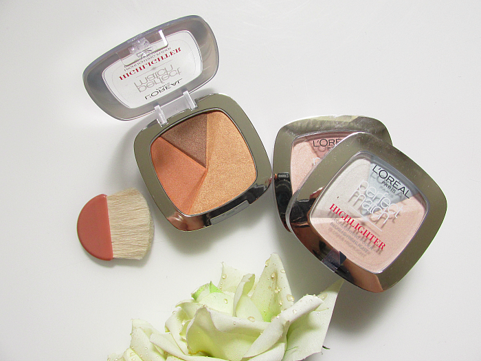 Review: Verpackung Pinsel L´Oréal Paris Perfect Match Puder Highlighter - Icy Glow, Rosy Glow, Golden Glow