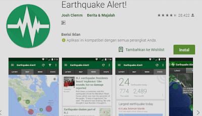 aplikasi dekteksi gempa dalam skala internasional diseluruh dunia