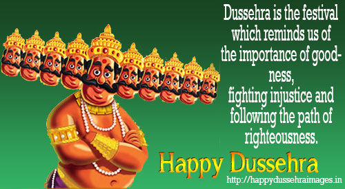 Best And Awesome Collections of Dussehra SMS - Happy Dussehra 2016 SMS