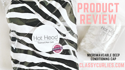 Hot Head by Thermal Hair Care deep conditioning cap review - ClassyCurlies