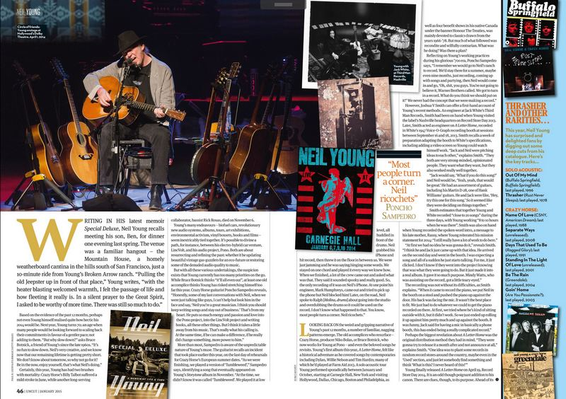 Neil Young in UNCUT Jan. 2015