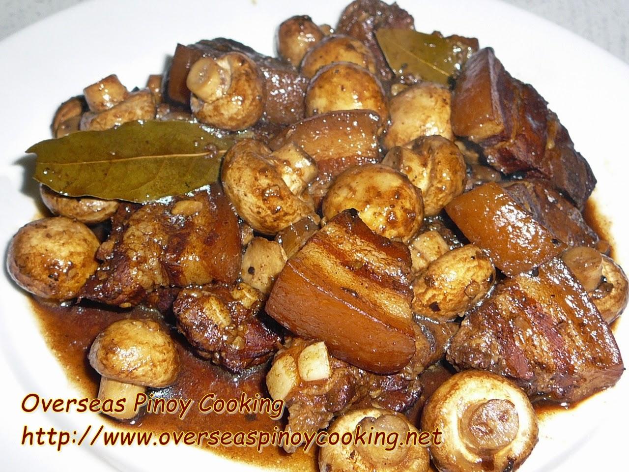 Pork with Mushroom Adobo