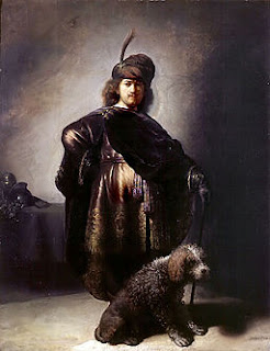 Rembrandt and poodle