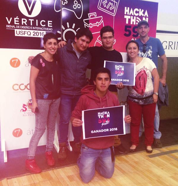 Kamak equipo de la USFQ ganador de la 3ra Bienal de Diseño e Interactividad: Vértice2016 y Hackathon593.
