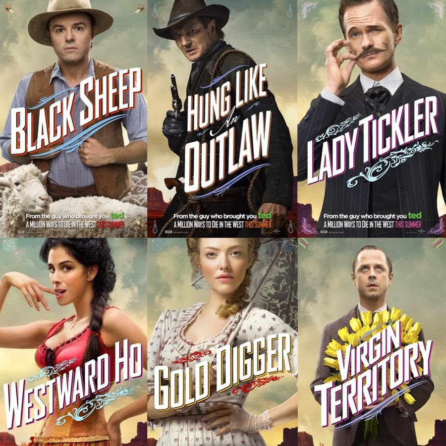 Postere pentru comedia A Million Ways To Die In The west