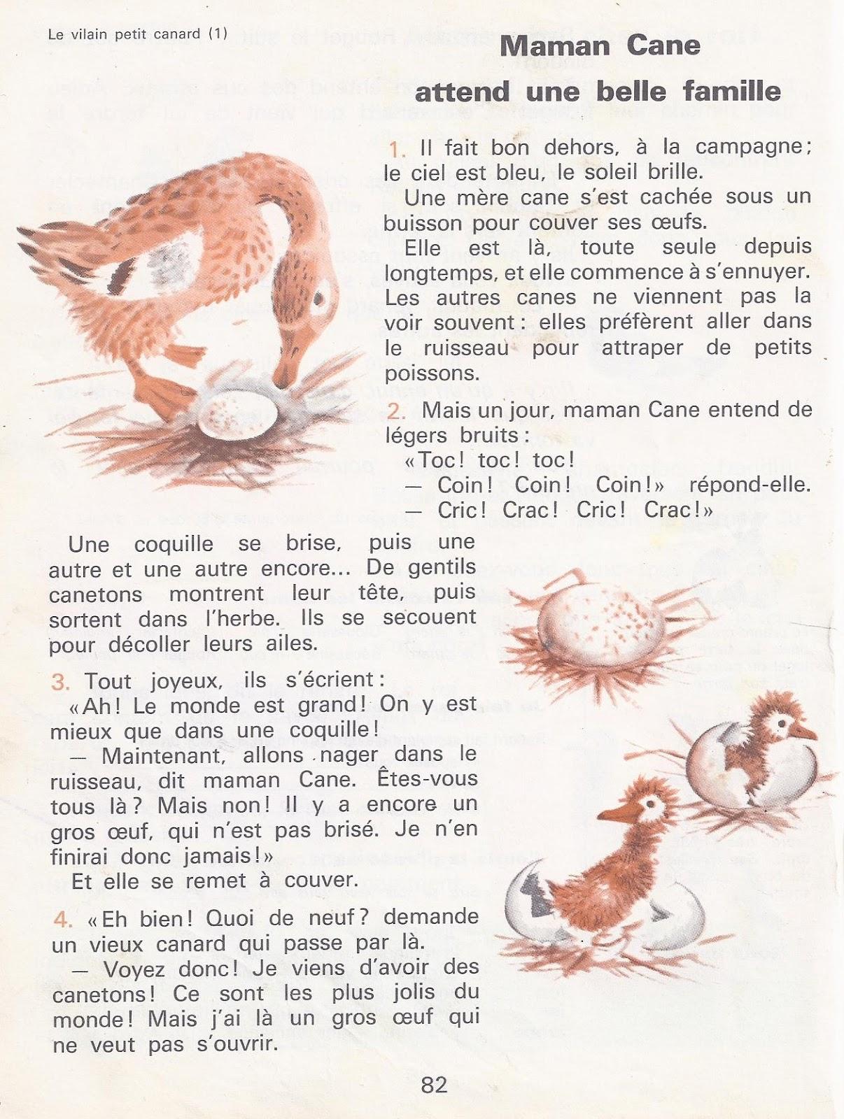 Le Vilain Petit Canard Texte : vilain, petit, canard, texte, école, Références:, Vilain, Petit, Canard