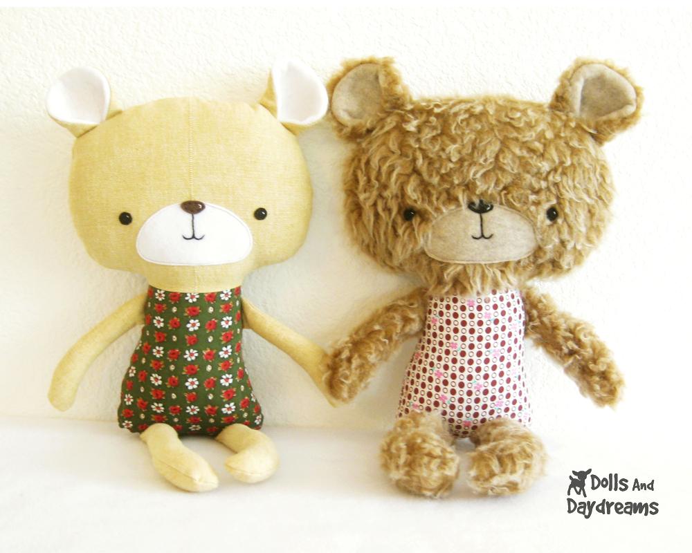 Teddy Bear Softie Stuffed Toy PDF Sewing Pattern Finished!