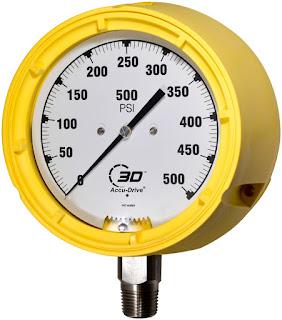 Direct drive industrial process pressure gauge