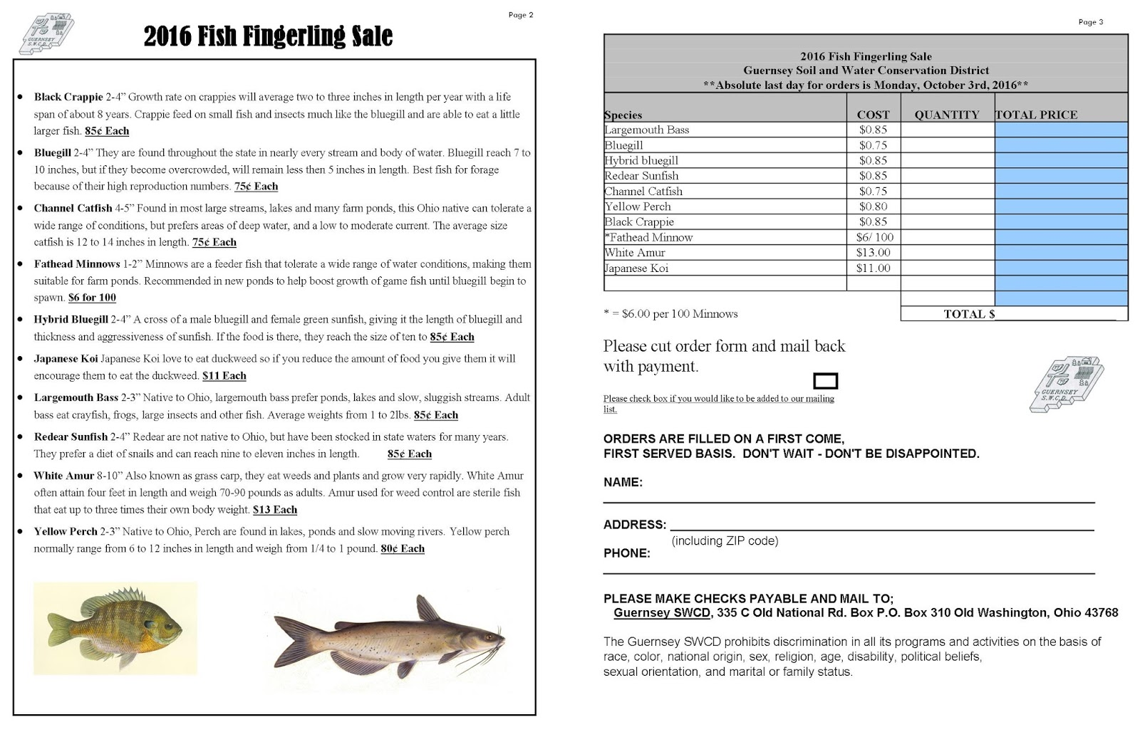 Guernsey Soil & Water Conservation District: 2016 Fish