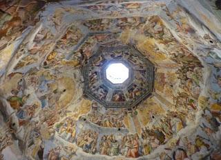 Decoración interior de la cúpula de Brunelleschi.
