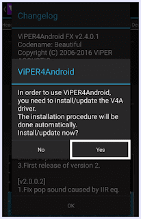 Install driver for viper4android