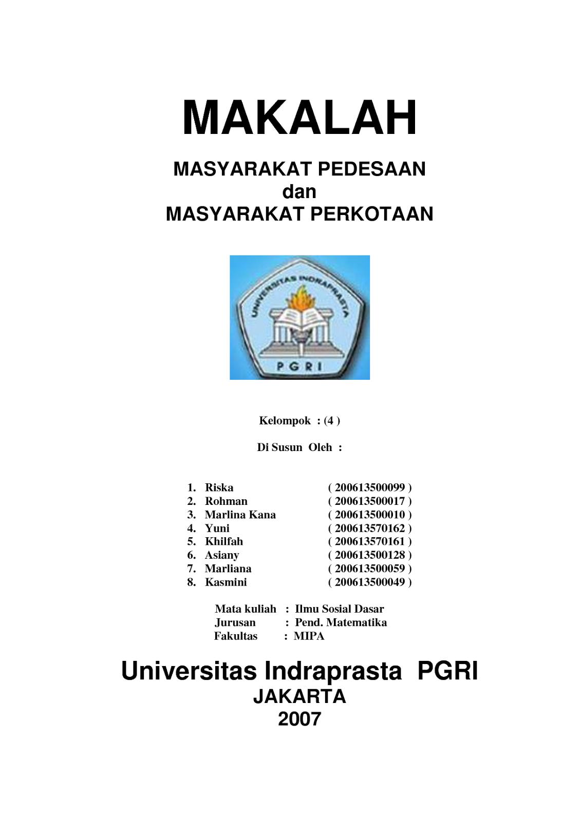 CONTOH RESUME BAHASA INDONESIA DAN INGGRIS: contoh makalah ...
