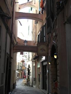 Narrow St Remo Street - Italy