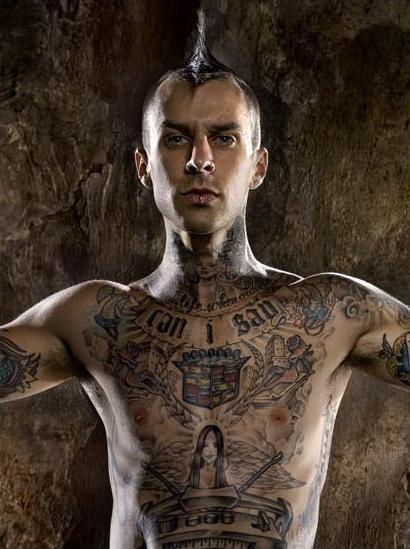 French Quotes Wallpaper Travis Barker S Tattoos