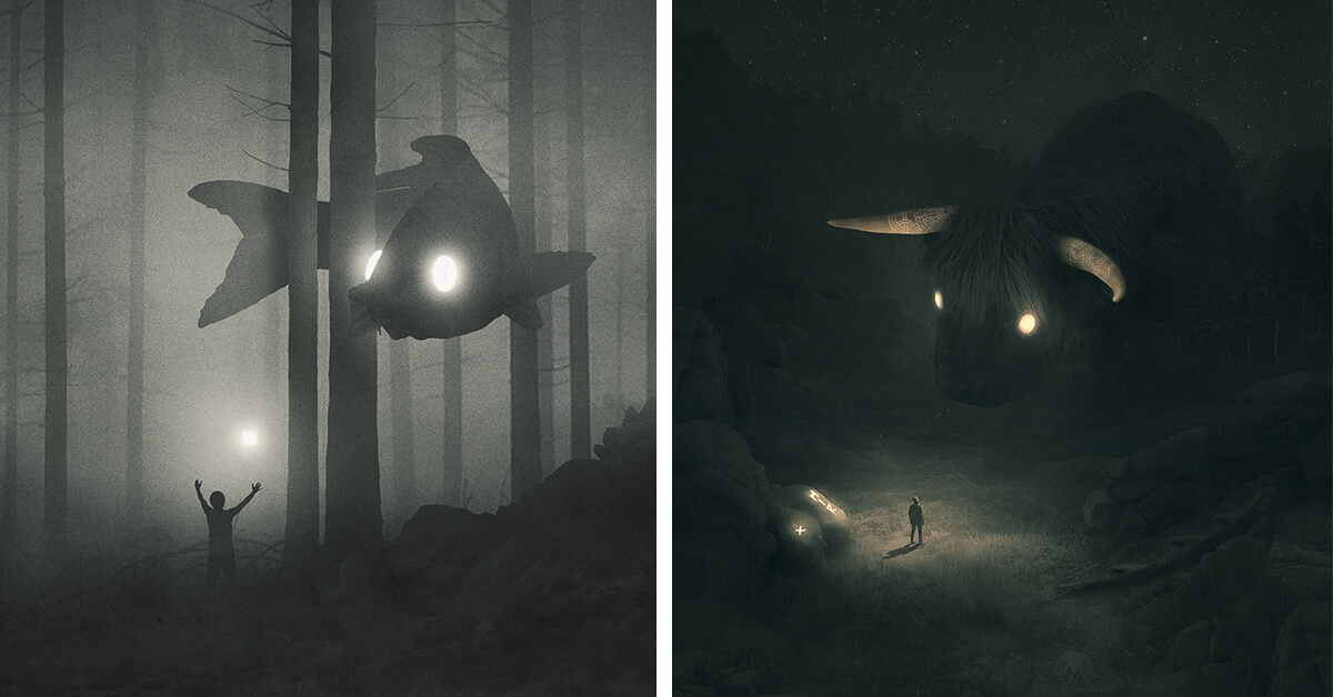 Artist Illustrates A Mysterious World Of Spirit Animals To Visualize His Battle With Depression