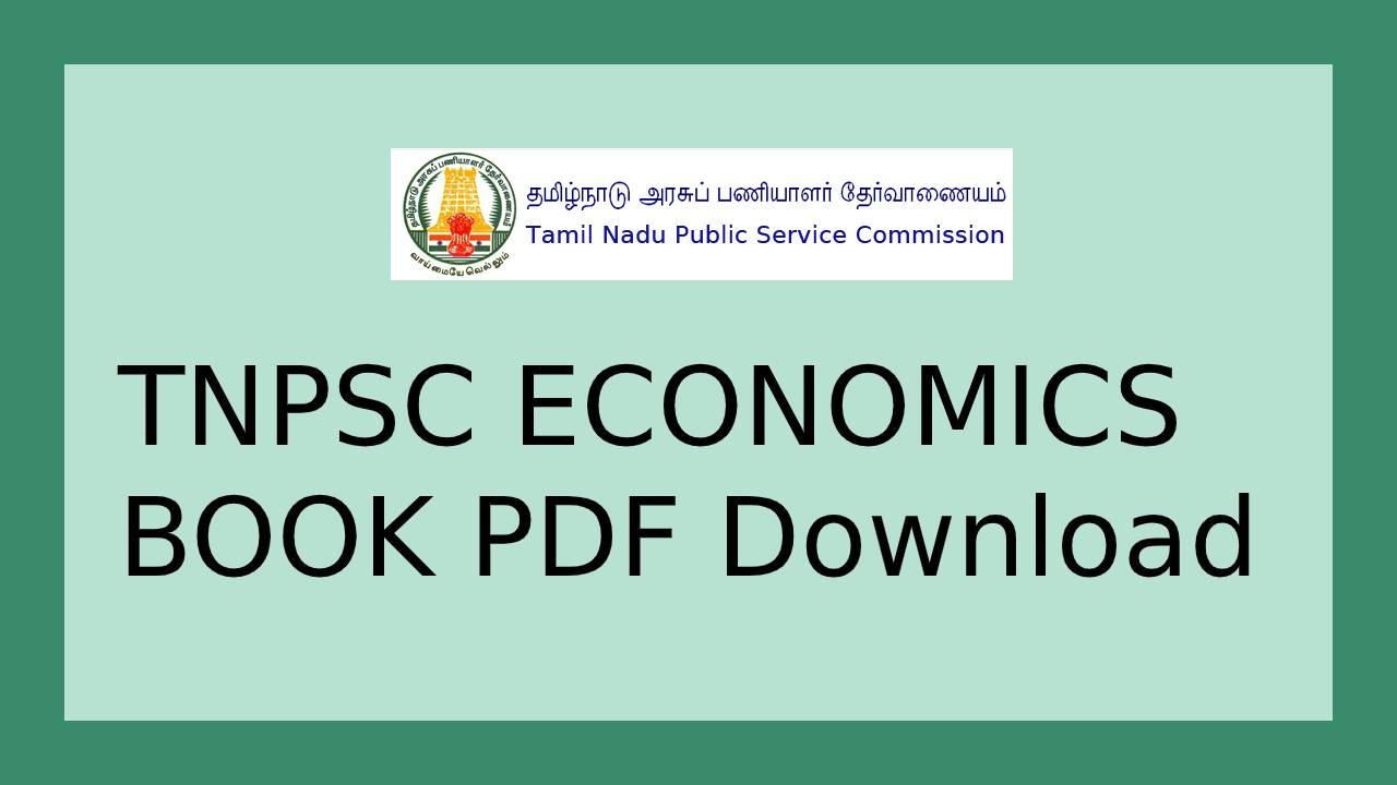 TNPSC Economics Textbooks