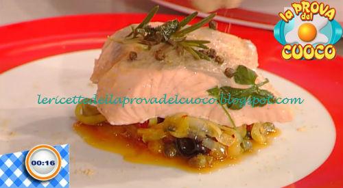 Salmone al vapore con caponatina ricetta Giunta da Prova del Cuoco