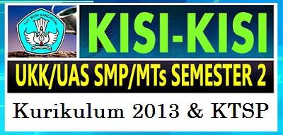 MTS yang mungkin dapat digunakan sebagai dasar dalam penyusunan soal Ujian Kenaikan Kelas  Kisi - Kisi UKK IPA SMP/MTS Kelas 7,8 Semester 2 Tahun 2018