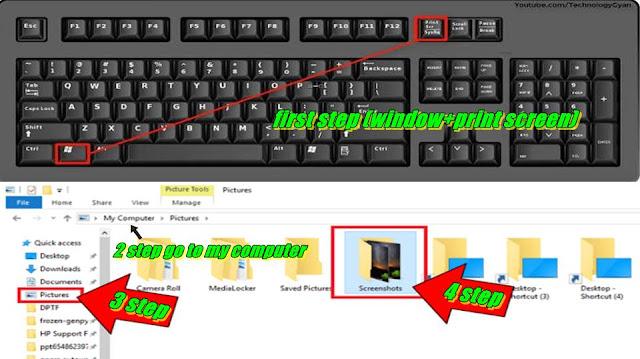 Take Screenshot by Shortcut Key